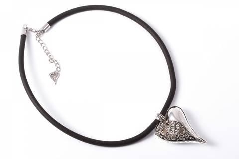 Bilde av 10455 Kort smykke gummisnor og hjerte