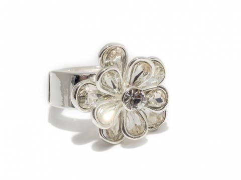 Bilde av 50107 Ring med blomst i blanke stener