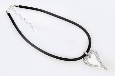 Bilde av 10574 Kort smykke sort snor